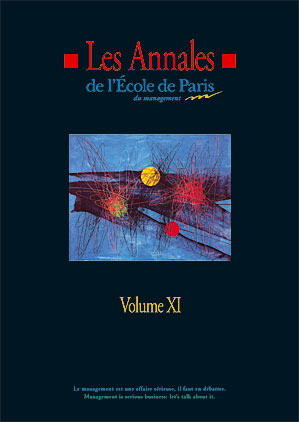 Couverture Les Annales de l'École de Paris du management - Volume 11