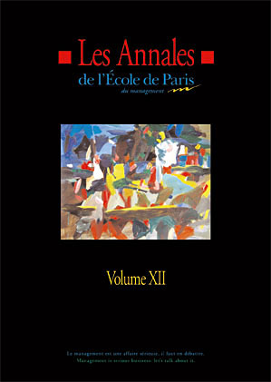 Couverture Les Annales de l'École de Paris du management - Volume 12