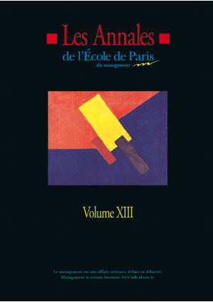 Couverture Les Annales de l'École de Paris du management - Volume 13