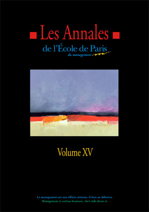 Couverture Les Annales de l'École de Paris du management - Volume 15