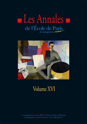 Couverture Les Annales de l'École de Paris du management - Volume 16
