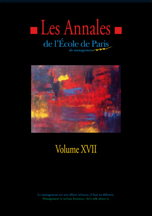 Couverture Les Annales de l'École de Paris du management - Volume 17