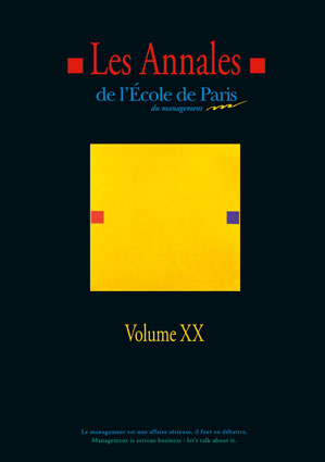 Couverture Les Annales de L'École de Paris du management Volume 20