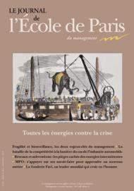 Couverture Journal de L'École de Paris du management N°101