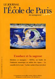 Couverture Journal de L'École de Paris du management N°49